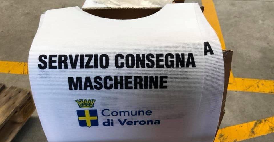 Verona, distribuzione gratuita di mascherine a cura dei volontari ANA